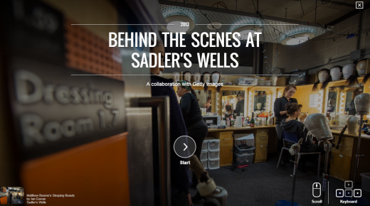 Sadler's Wells partners with the Google Cultural Institute
