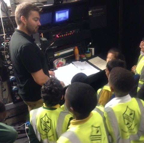 Pupils discover theatre technology at Sadler's Wells