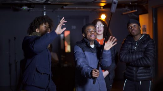 STUDENTS CREATE MUSIC VIDEO WITH RAP PRODUCER TSB